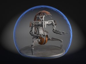 3d model of star wars droideka
