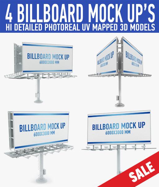 billboards advertising 3d model