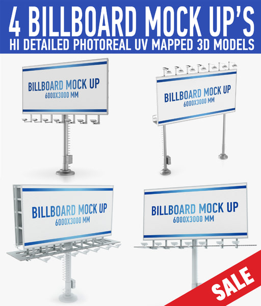 billboards advertising 3d c4d