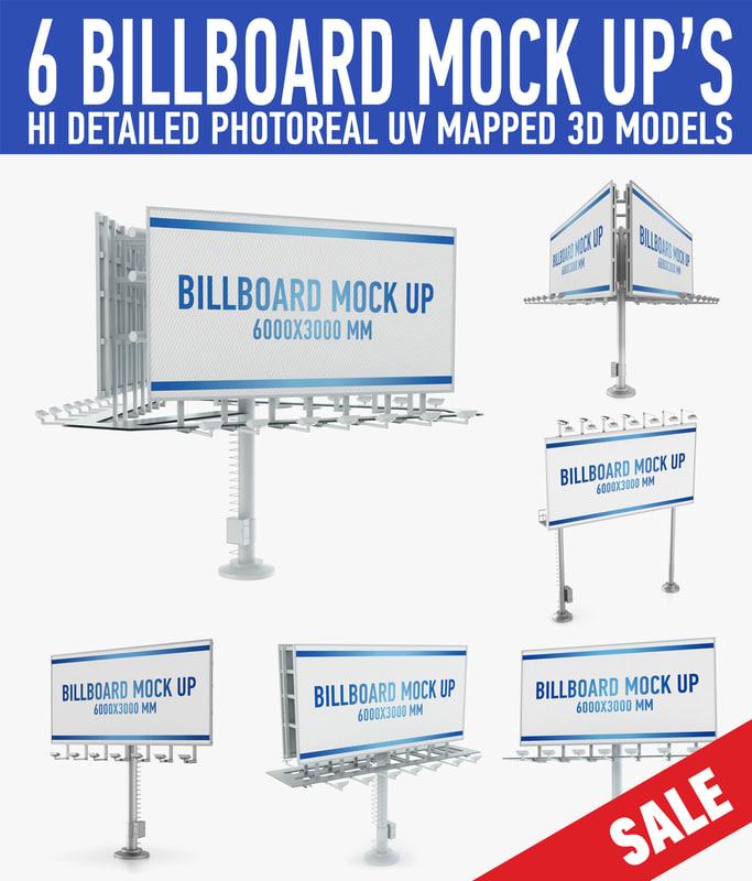3d model billboards advertising