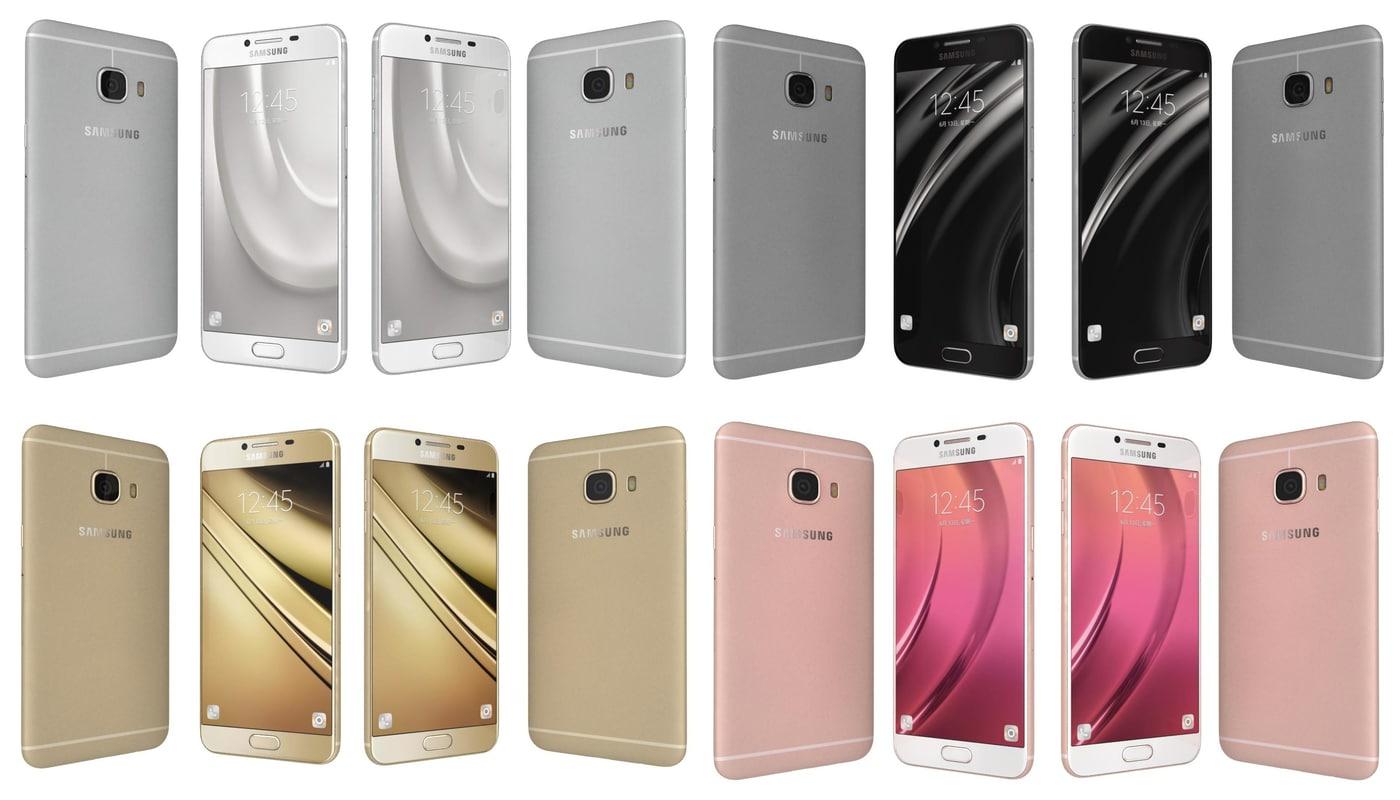3d 3ds samsung galaxy c5 colours