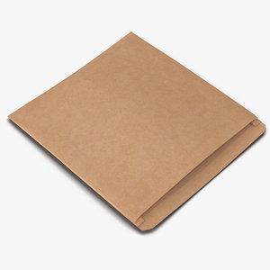 bakery paper bag 2 c4d