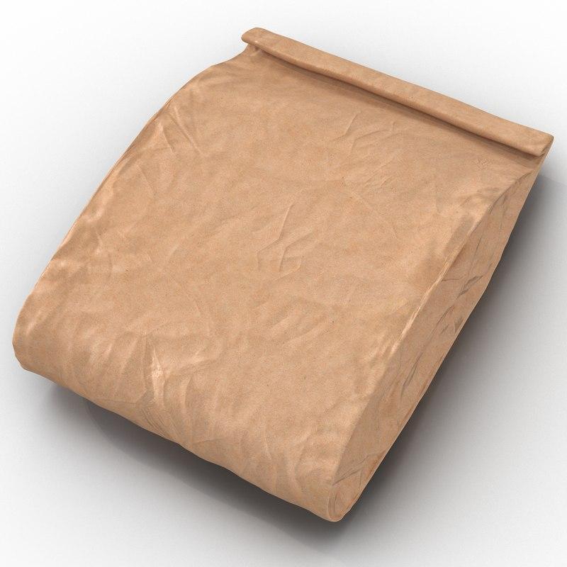 bakery paper bag 3ds