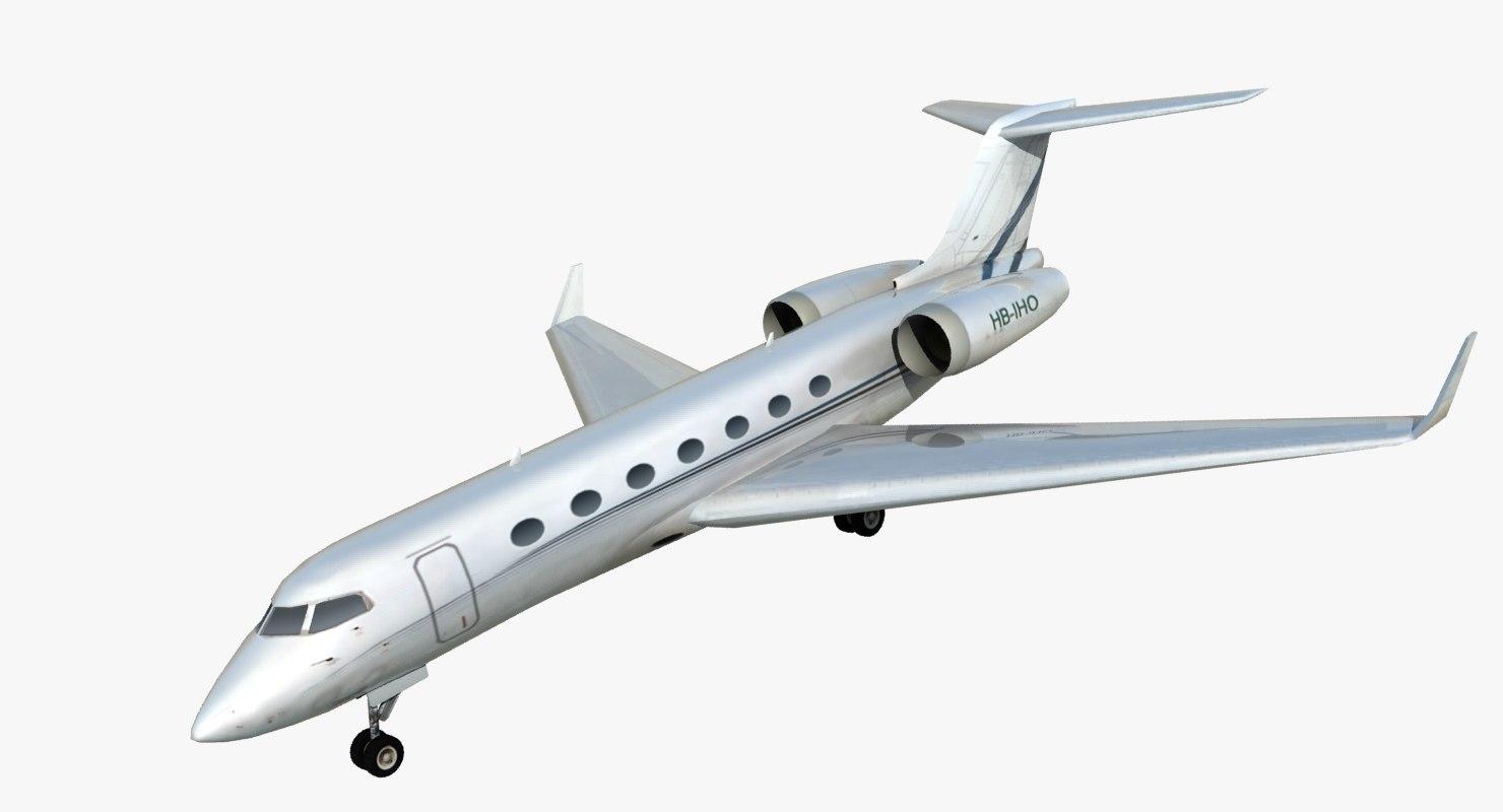 3d gulfstream g550 private jet