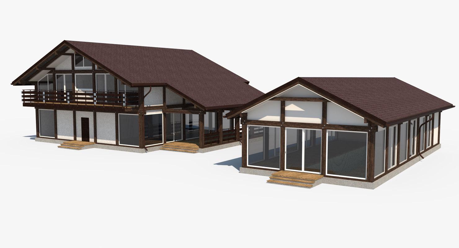 3d model house constructions for 3d fachwerk
