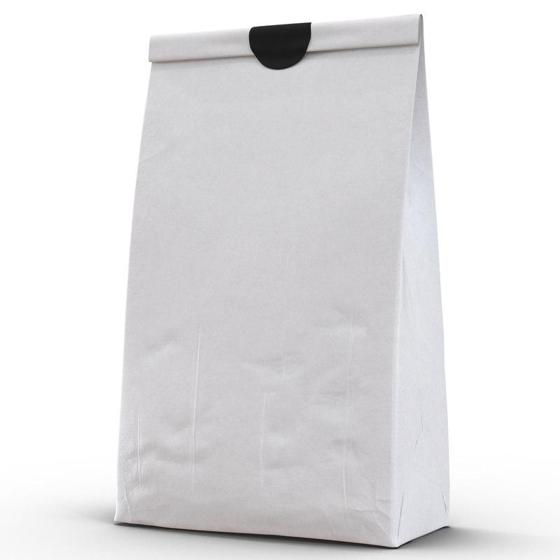 3d paper pastry bag 3 model