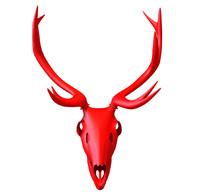 obj print-ready deer skull printing