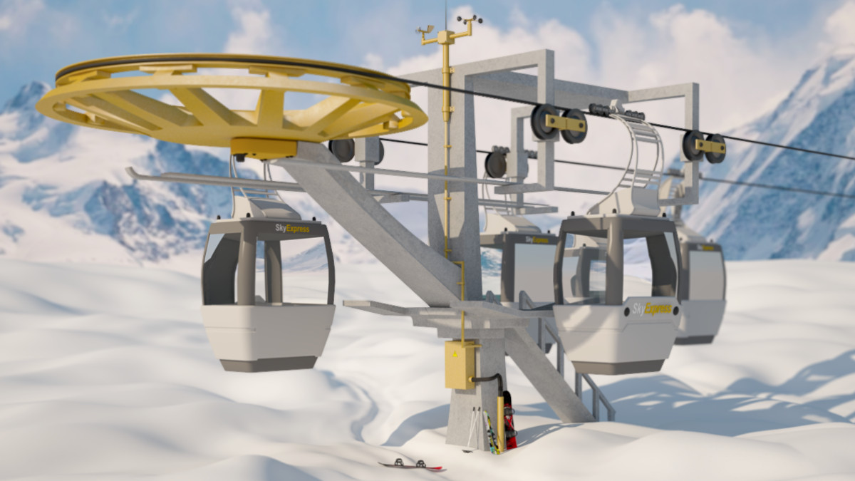 cableway ski lift max