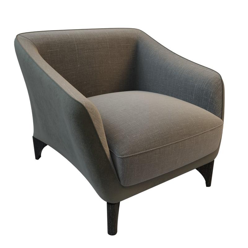 chair club trento 3d model
