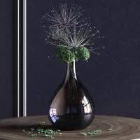 3d model of plant vase