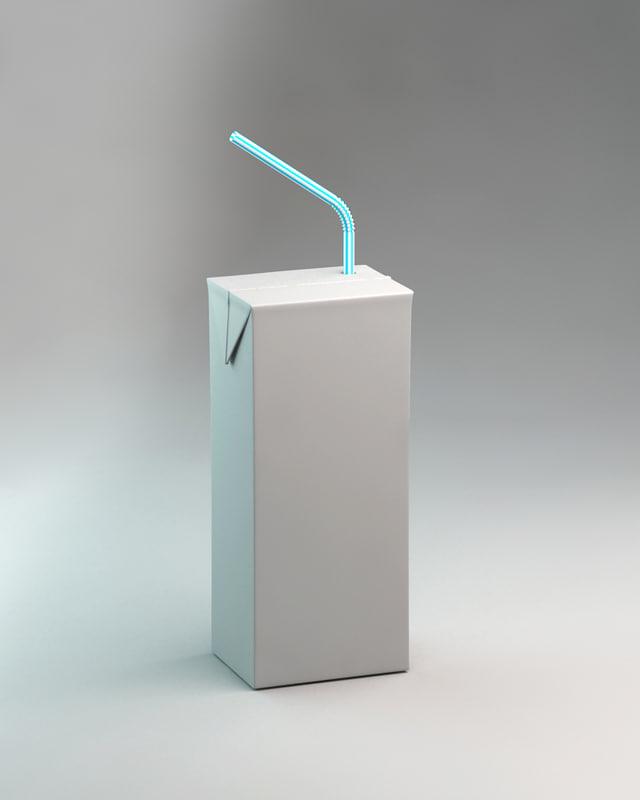 3d simple box juices model