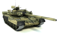 3d model of t-80ud main battle tank