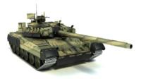 t-80ud main battle tank 3d max