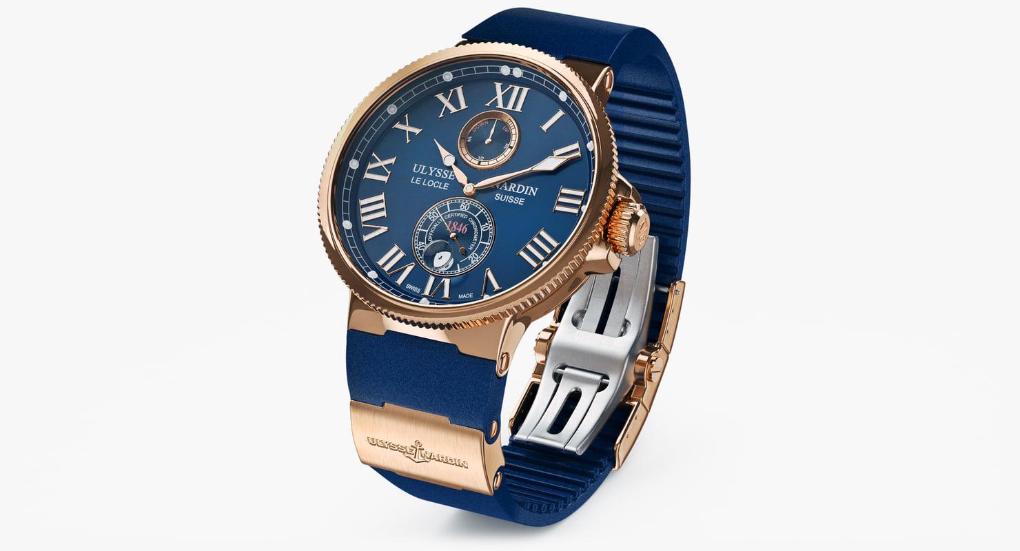3d model of wrist watch ulysse nardin