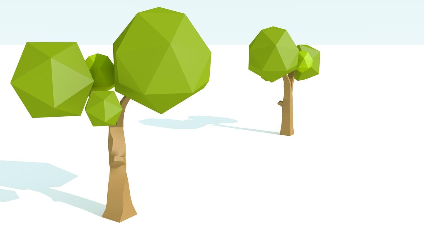 3d model trees