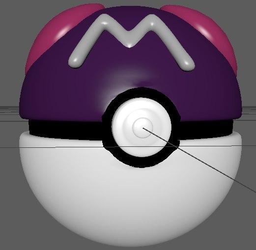 3d pokemon master ball model
