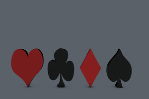 3d model of playing card