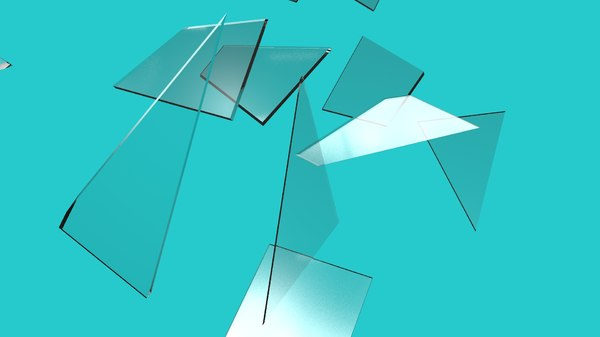 shattered glass pieces 3ds