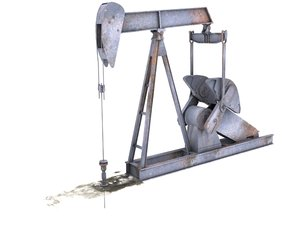 3d model oil pump animation