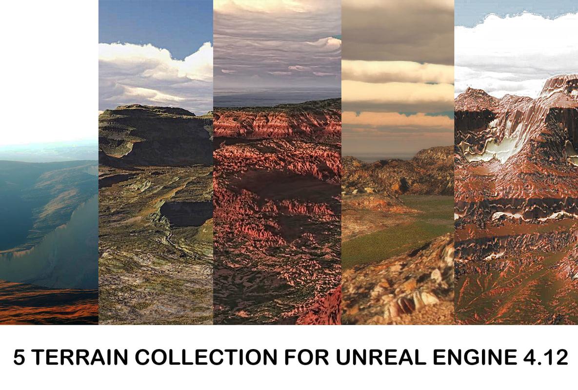 realistic terrain 3d 3ds