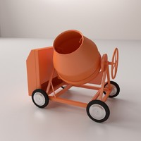 3ds concrete mixer