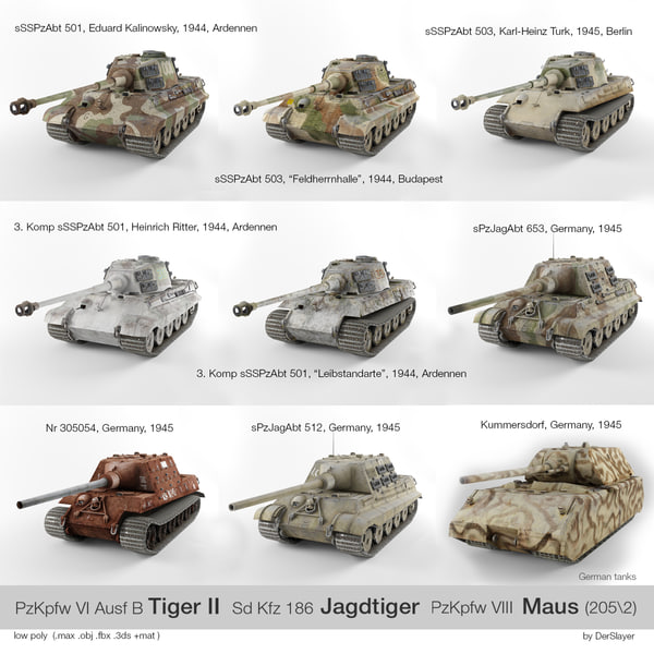 sd tiger ii jagdtiger 3d model