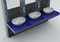 counter wash basin c4d