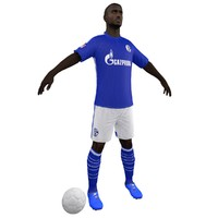 3d model soccer player body