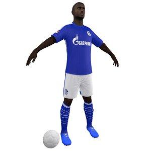 3d model soccer player body