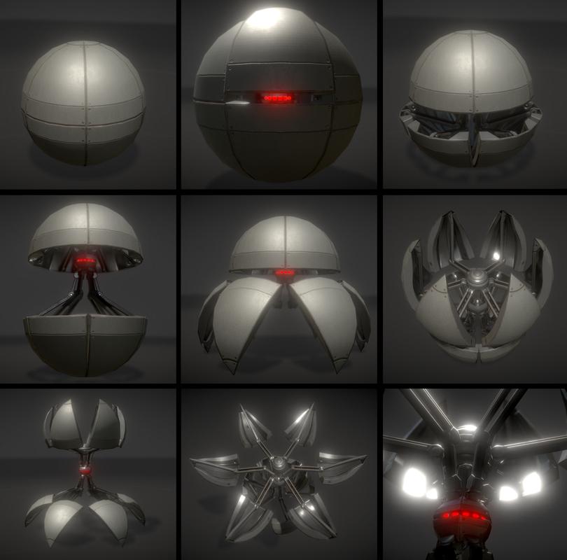 sphere bot 3d model