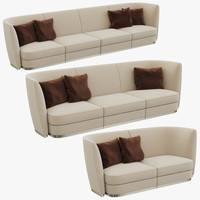 flexform altea divano sofa 3d model