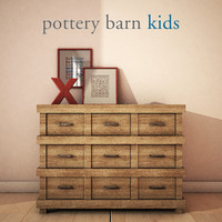 3d potterybarn owen dresser model