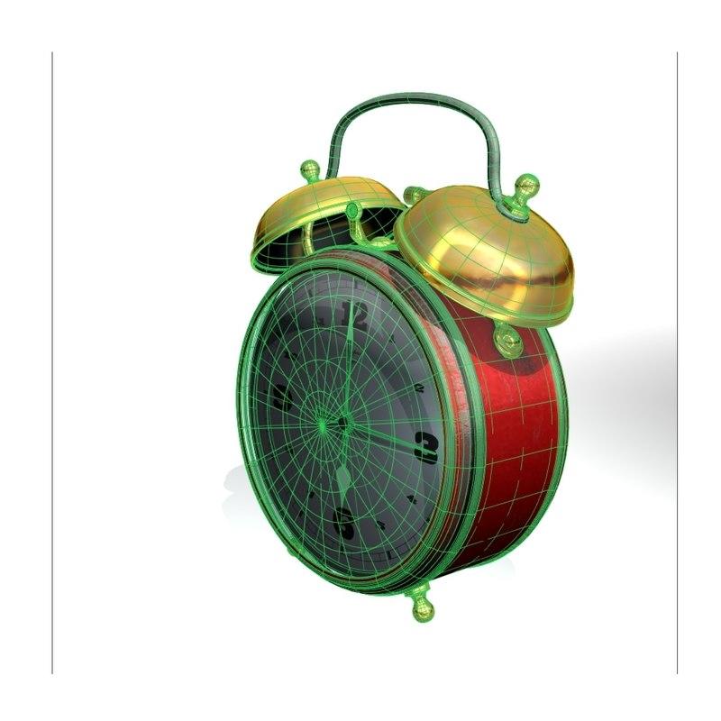 alarm clock 3d max