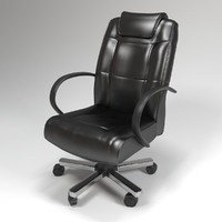 chair leather office 3d model