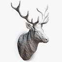 Deer Stag Head Sculpture