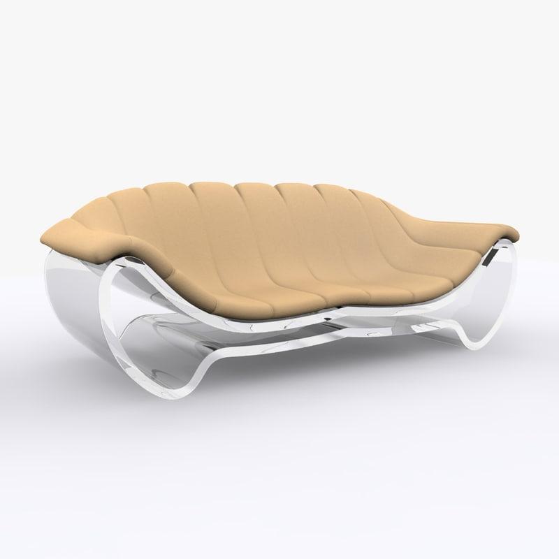 free transparent sofa 3d model
