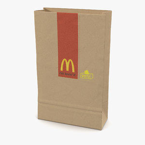 fast food paper bag c4d