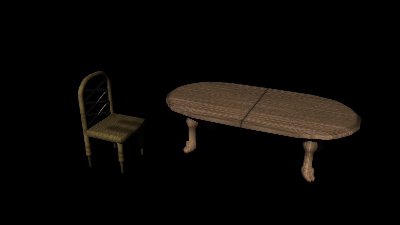 3d table chair model