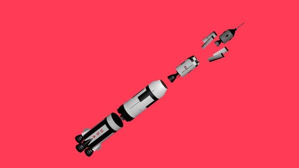 3d c4d apollo 11 spacecraft