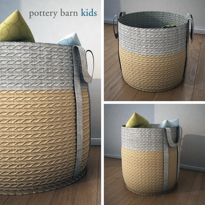 potterybarn basket 3ds