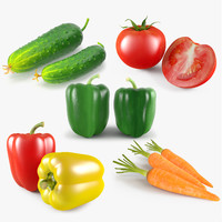 vegetable tomato green 3d max