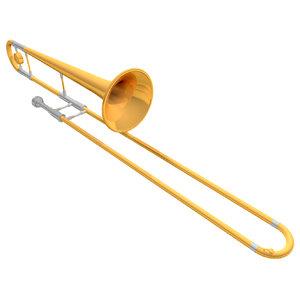 trombone working 3d model