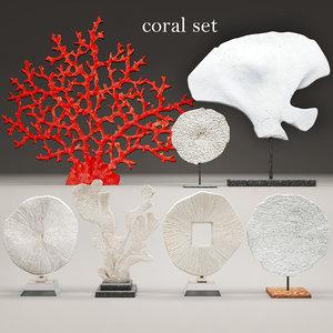 coral set 3d obj