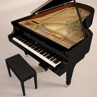 piano steinway 3d max