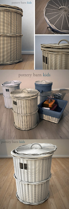 3d potterybarn basket -