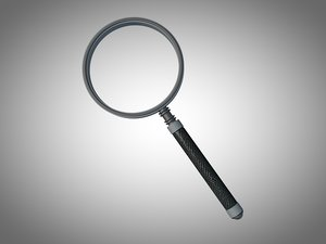 magnifying glass 3d c4d