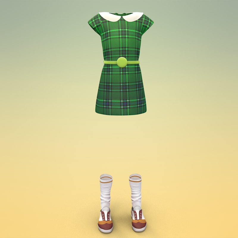 3d cute dress model