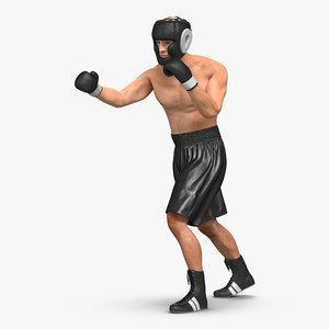 3d adult boxer man pose