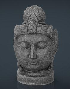statue head 3d x