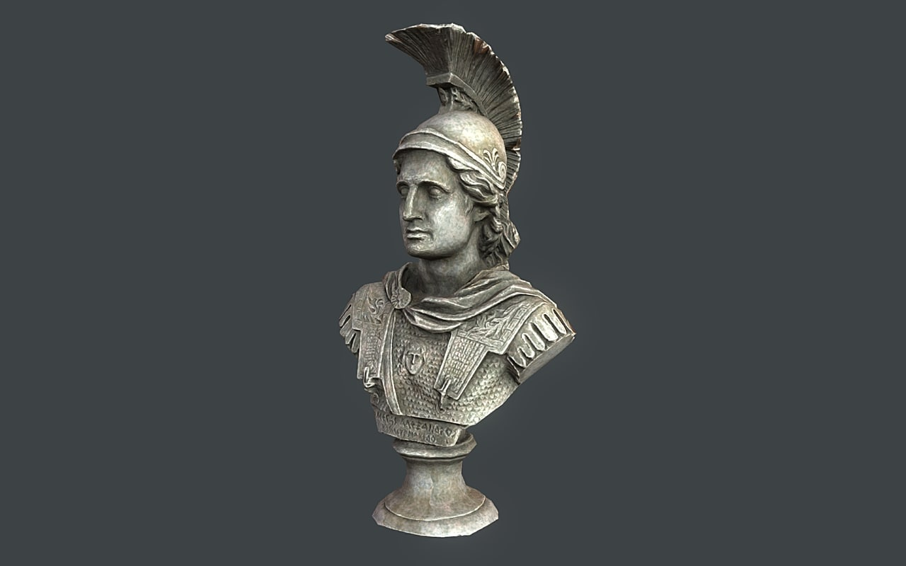 bust alexander great 3d max